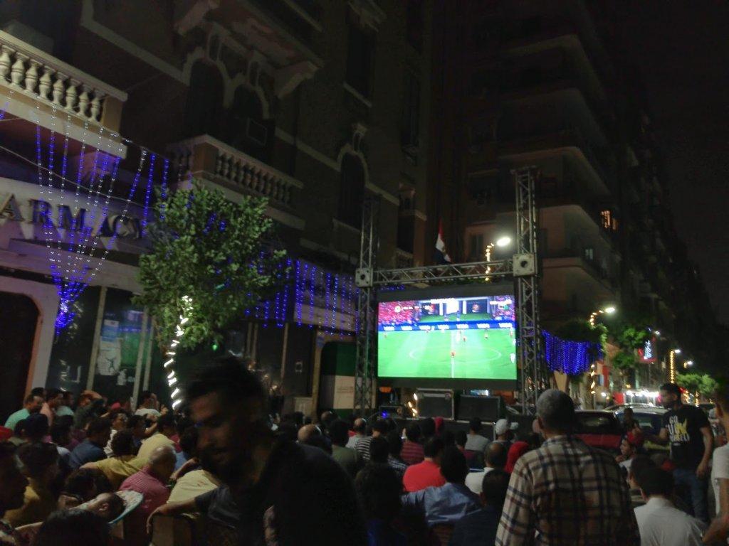 サッカーのエジプト戦