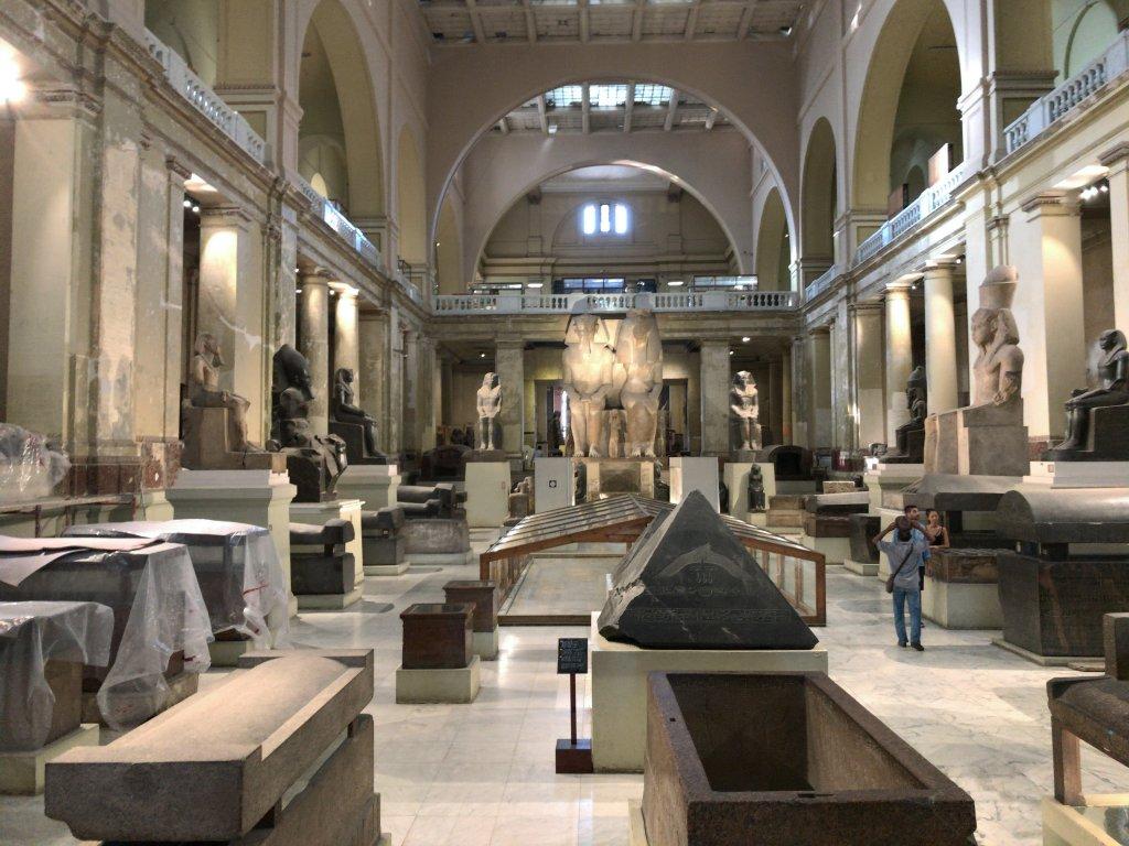 エジプト博物館内
