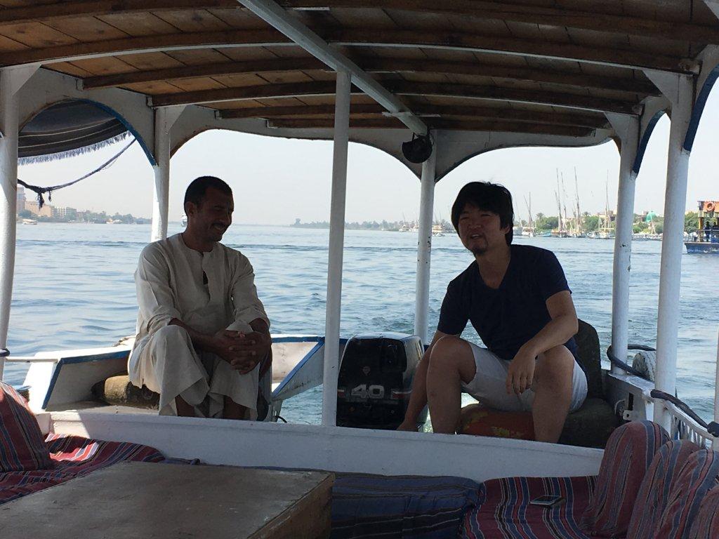 ナイル川のボート