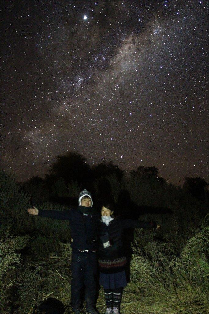 アタカマ砂漠の星空