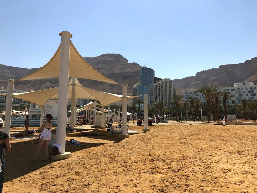 死海の砂浜