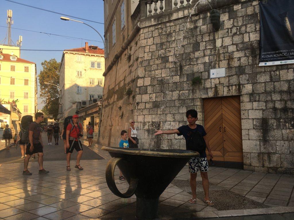 街の中にあった噴水