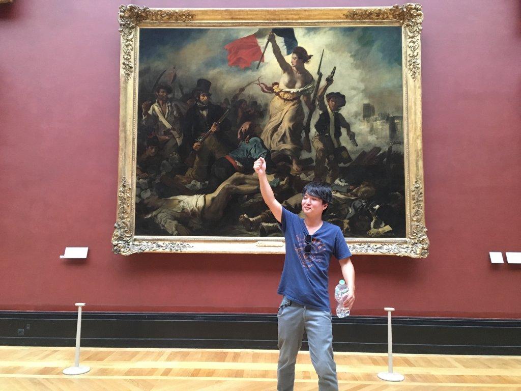 ドラクロワ「7月28日-民衆を導く自由の女神」