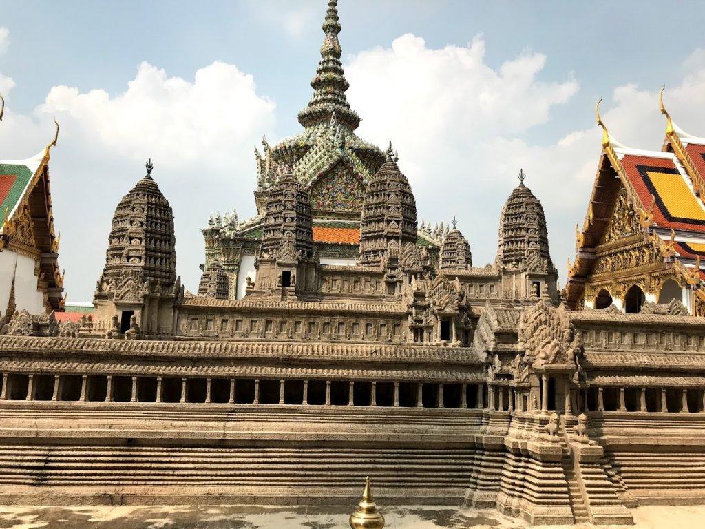 アンコール寺院の模型