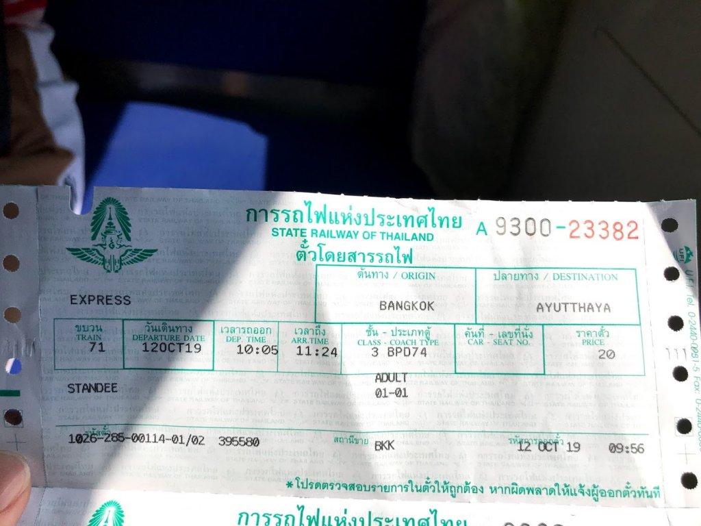 電車のチケット