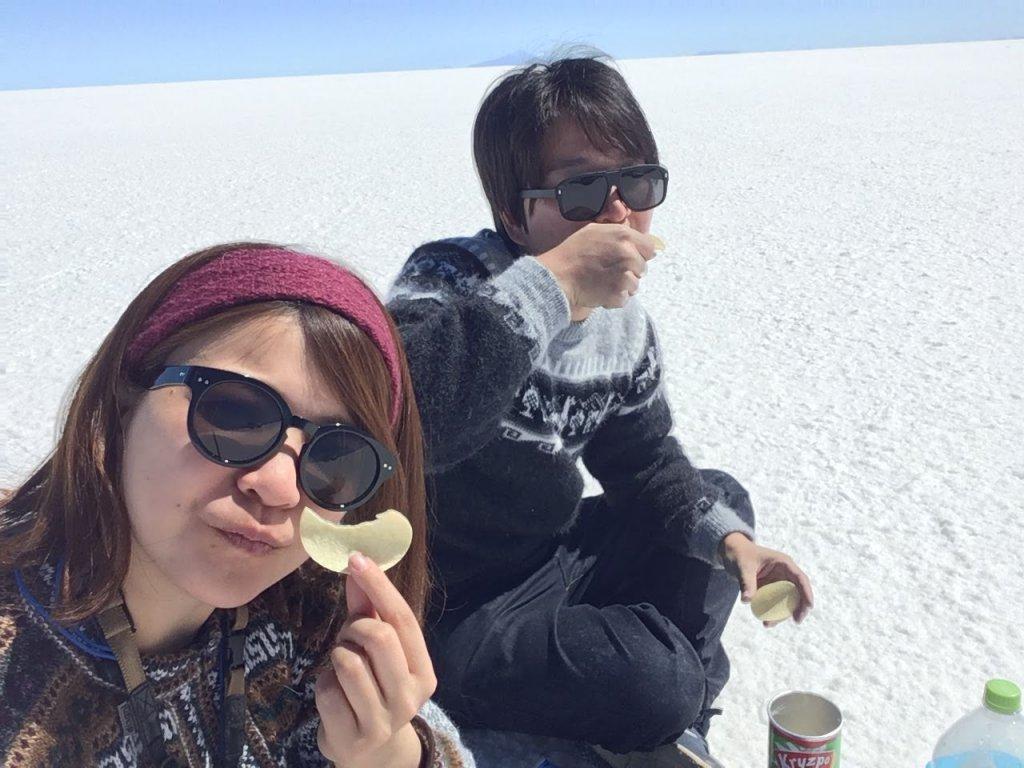 ウユニ塩湖とポテチ