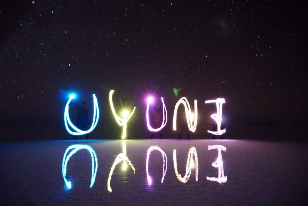 ウユニ塩湖の夜