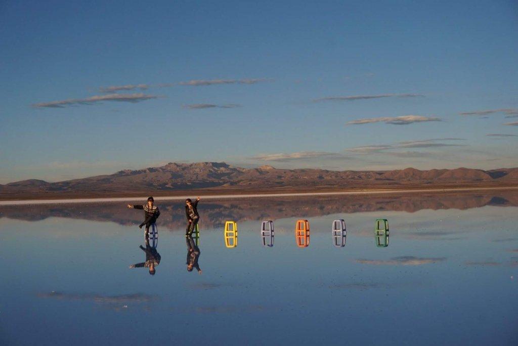 ウユニ塩湖の日中