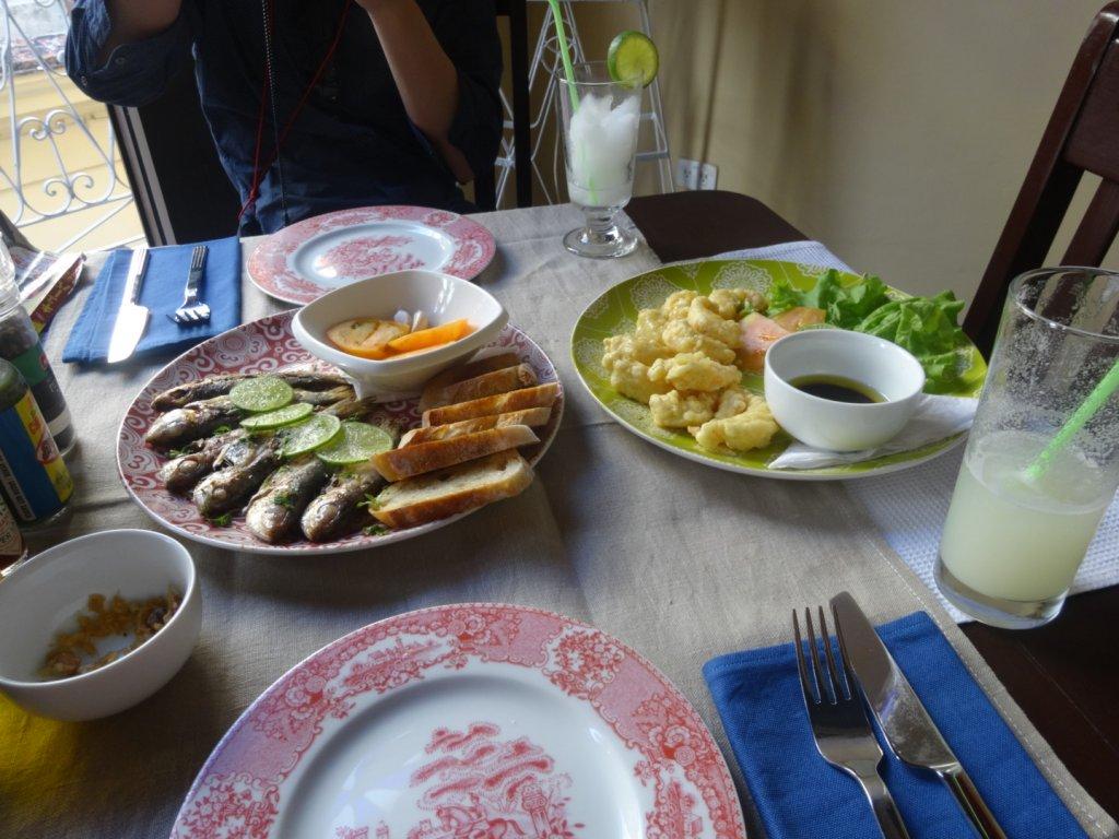 魚とえびの料理