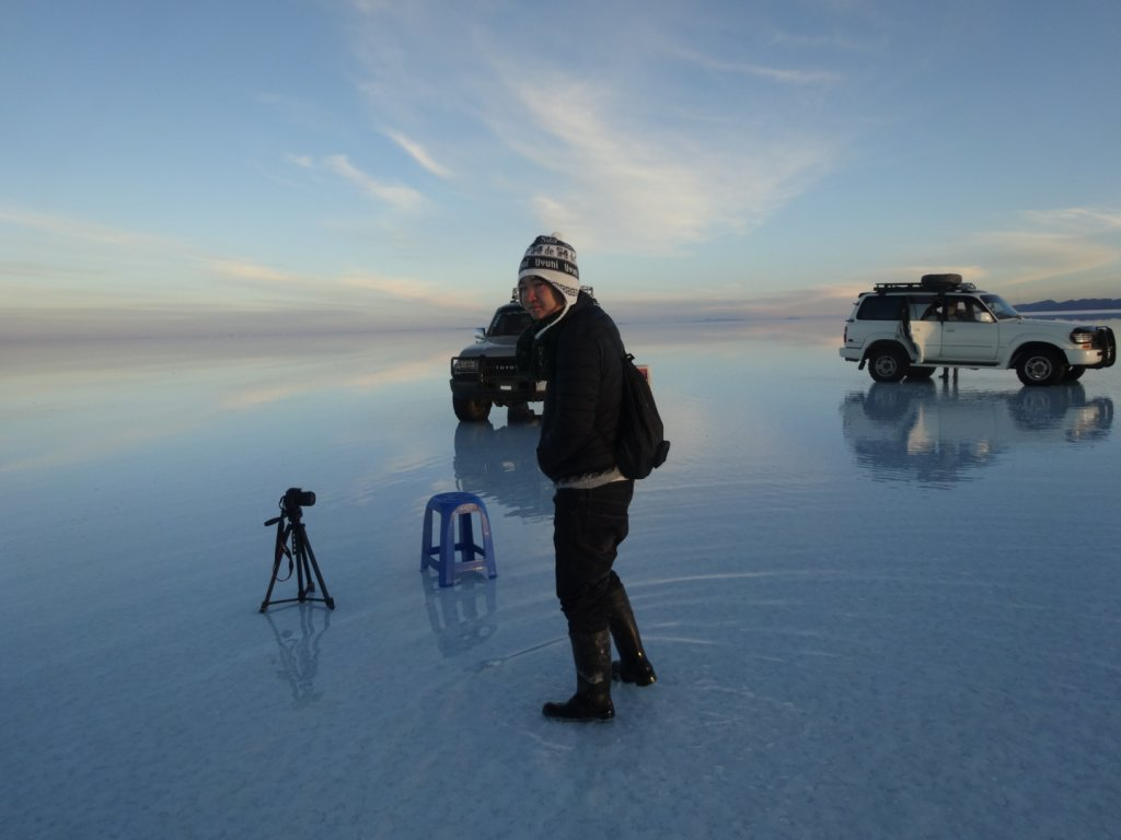 ウユニ塩湖の朝